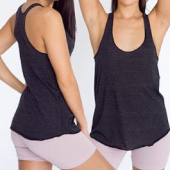 American Apparel Racerback Tank In great condition. Tri-blend black Racerback tank. Easy piece to dress up and down. American Apparel Tops Tank Tops