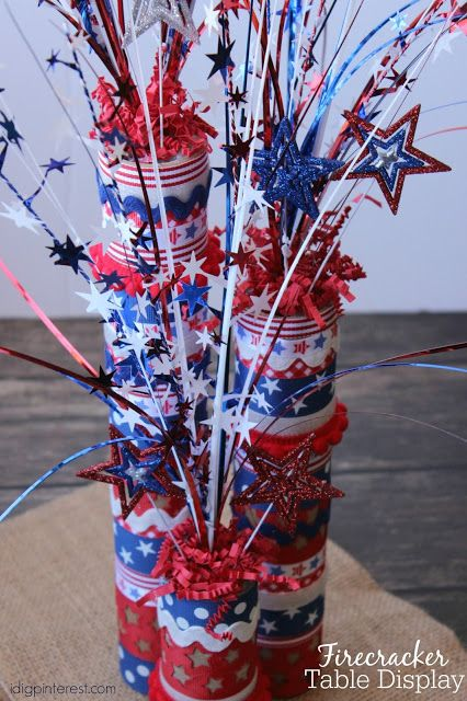 DIY Firecracker Table Centerpiece