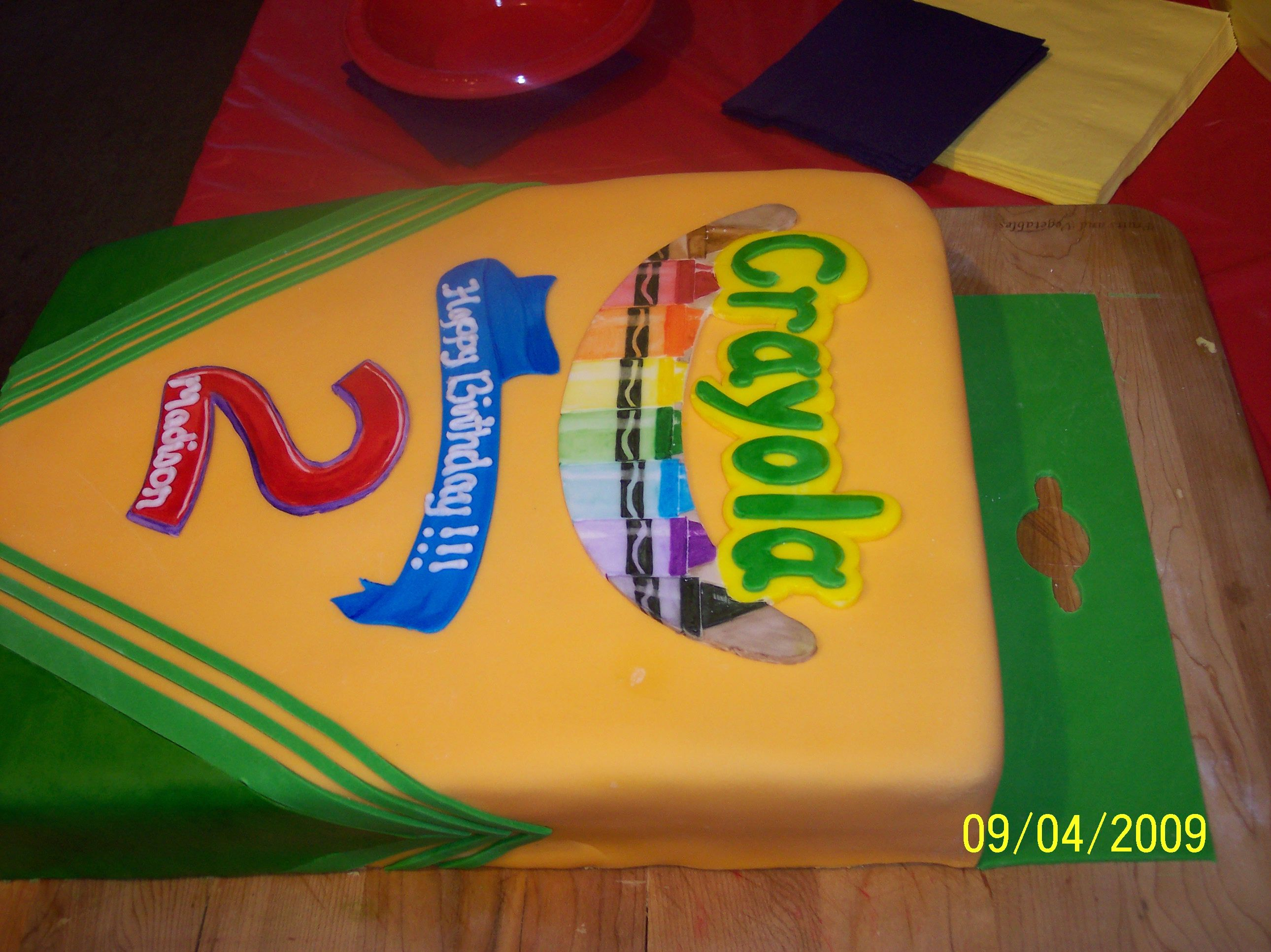 Box of Crayons Birthday Cake so cool!!