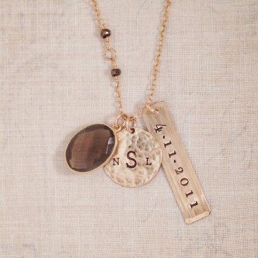 Donatella Gold Hand Stamped Jewelry Shep and Palmer Pinterest