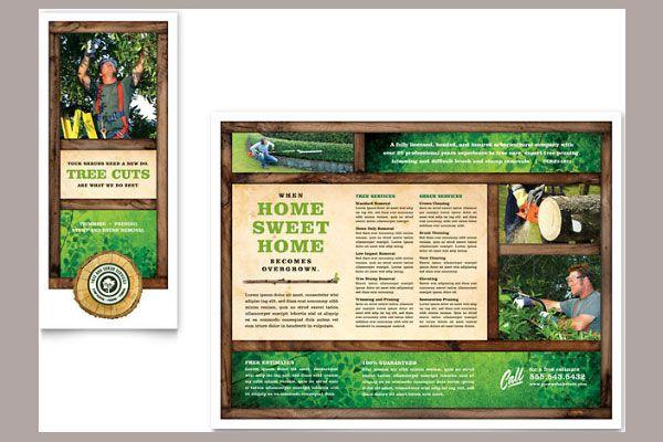 Tree Service Tri Fold Brochure Template Ada Sdasd Pinterest - Tri fold brochures templates