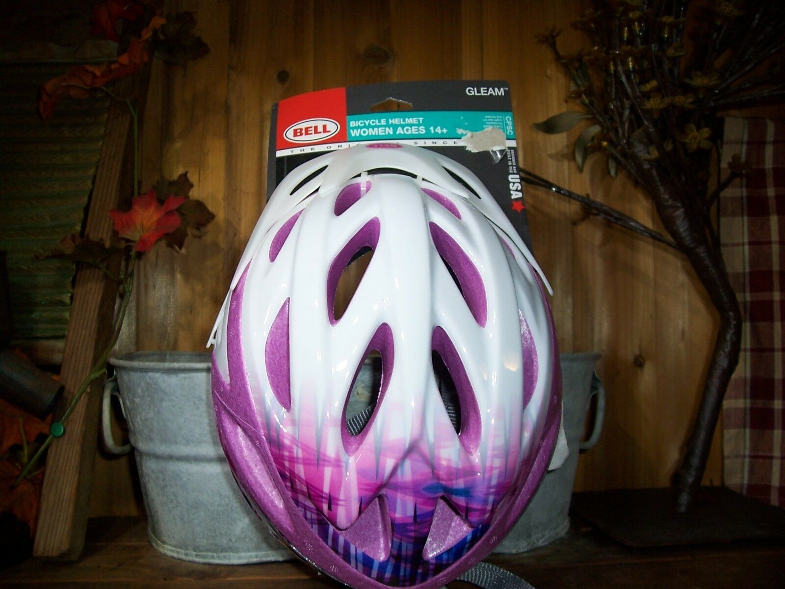 Details About Bell Ladies Bicycle Helmet White Pink Ages 14