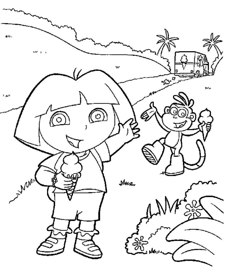Asombroso Dora Libro Para Colorear Imprimible Patrón - Ideas Para ...