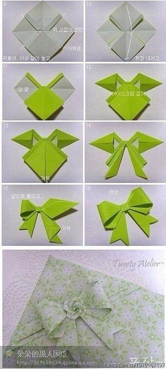 origami schleife falten diy pinterest schleife origami und basteln mit papier. Black Bedroom Furniture Sets. Home Design Ideas