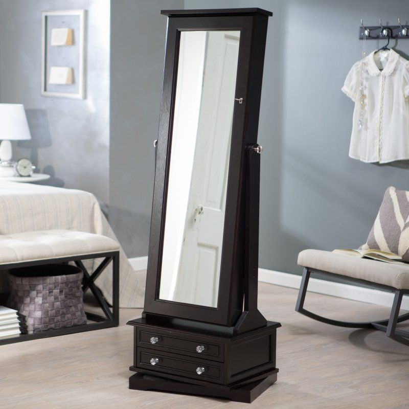 Belham Living Swivel Cheval Mirror Jewelry Armoire Floor Mirrors