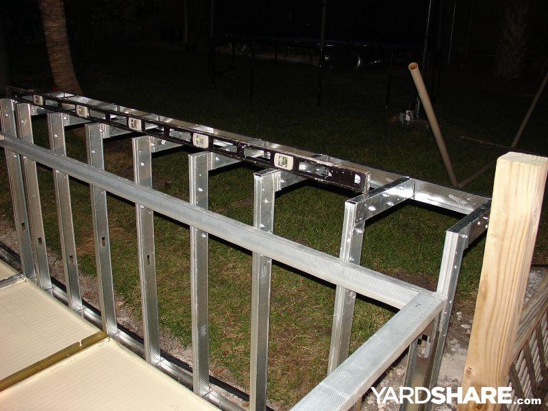 Outdoor Kitchen Steel Frame