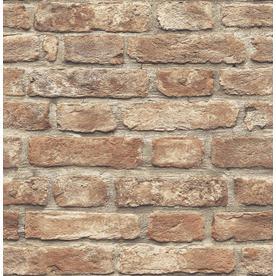 Scott Living 30.75Sq Ft Red Vinyl Brick Wallpaper Slw3418