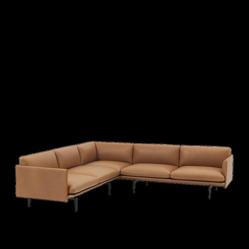 28164 Cognac Outline Corner Silk Leather Cognac 1523612459 40934564 Modular Sofa Uk Corner Sofa Scandinavian Sofa Design