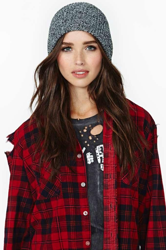 Love the flannel shirt used as a layer / jacket