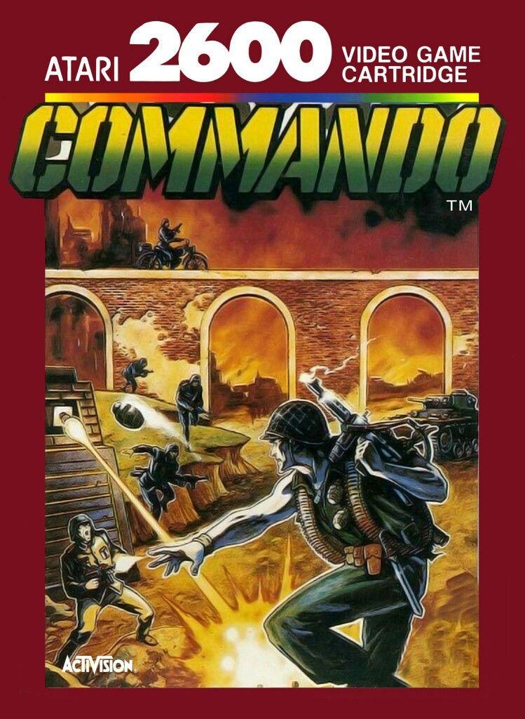 """Juego para la consola Atari 2600 """"  COMMANDO """""""