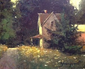 farmhouse by Romona Youngquist Oil ~ 8 x 10