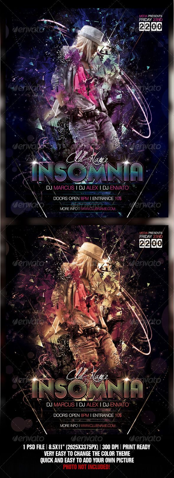 Insomnia Night Club Party / Concert Flyer / Poster | Party pops ...