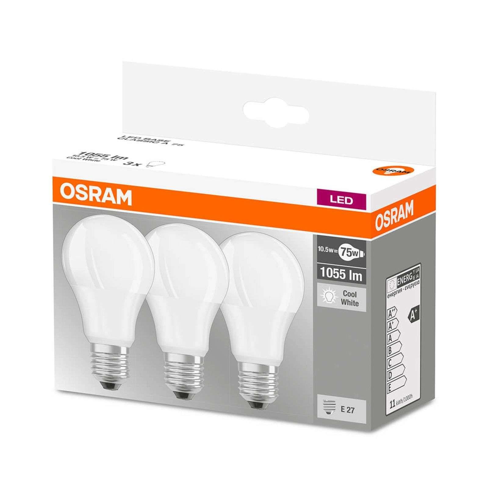 Led Lampe E27 10 5w Universalweiss 3er Set Led Lampe Led Osram