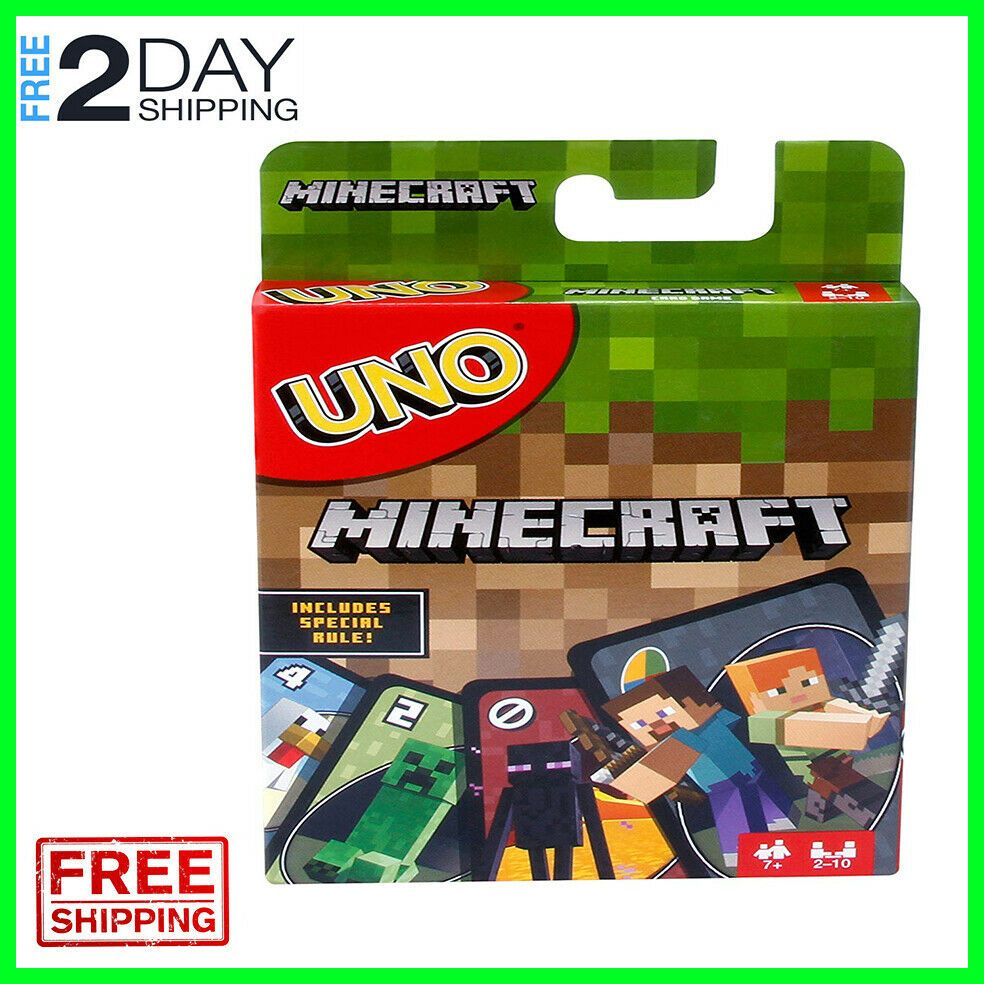 Details about uno minecraft characters card game family