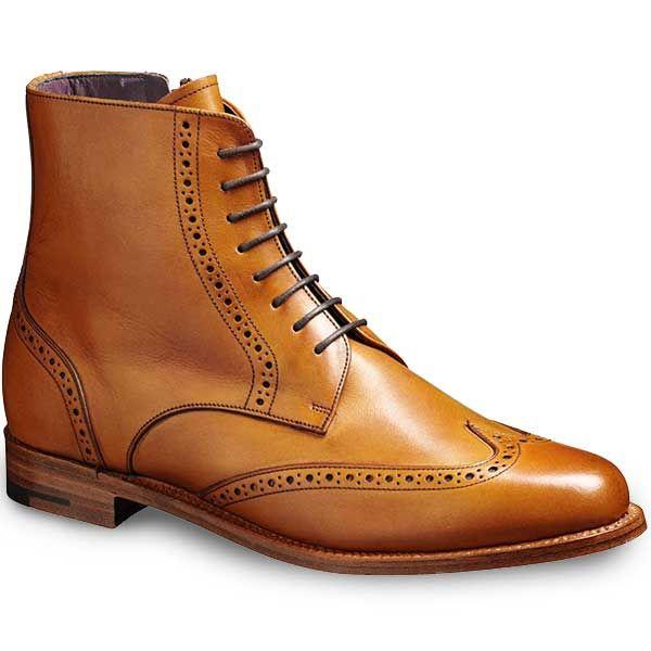 37fb58b59934f Barker Ladies - Faye Brogue Boots - Cedar Calf | Booties | Shoes ...