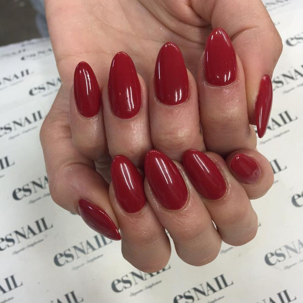Deep dark red nails for 2016 are so festive! | 1. Double Team + ...