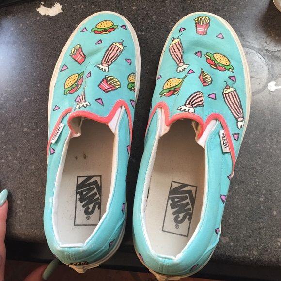 558efab2e2 Handpainted Katy Perry Inspired Vans Custom painted Vans with light wear Vans  Shoes Sneakers