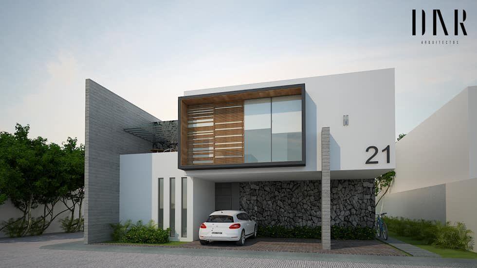 Perspectiva exterior casas de estilo por dar arquitectos for Casas estilo minimalista de dos plantas