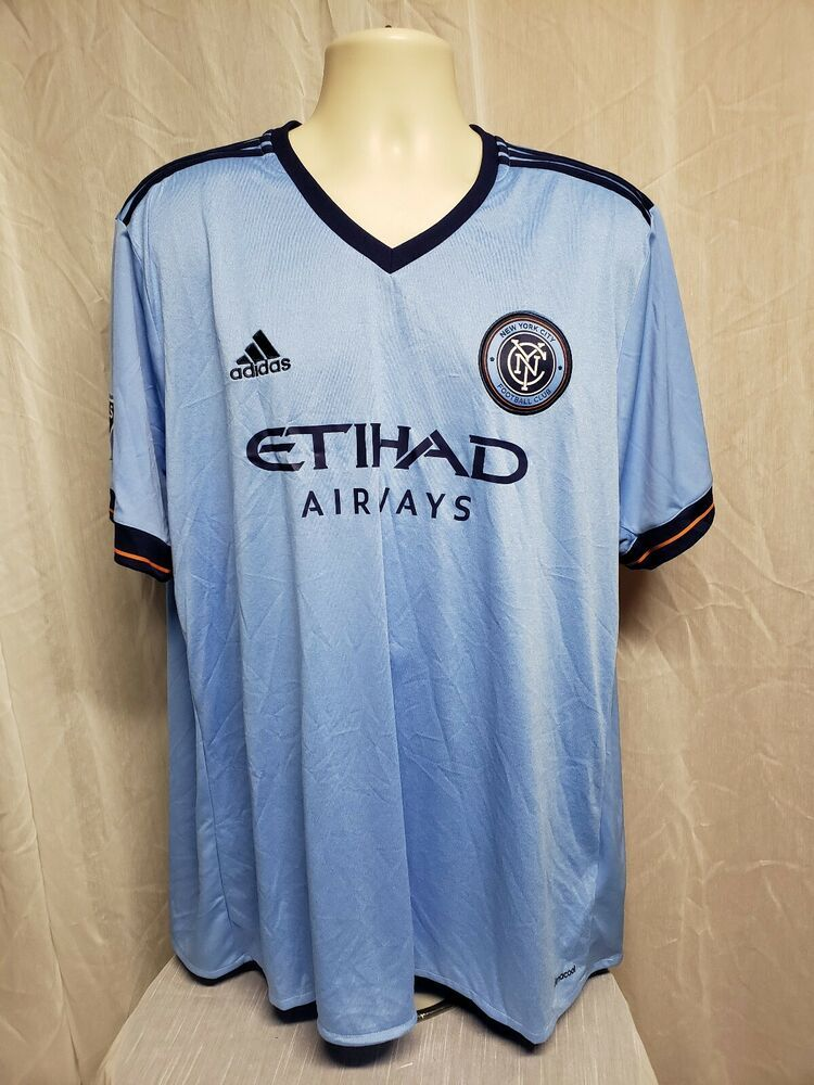 new concept 3f32f b1323 Adidas MLS New York City Football Club Etihad Airways Adult Blue 2XL Jersey   adidas
