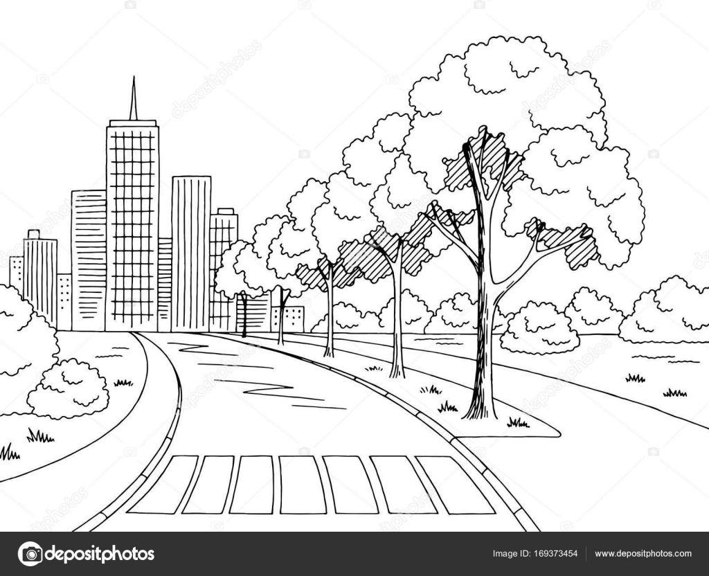 Paisajes Para Dibujar Buscar Con Google Boceto De Paisaje Arte En Perspectiva Paisaje Para Colorear
