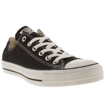 Womens Converse All Star Oxford Trainers Black