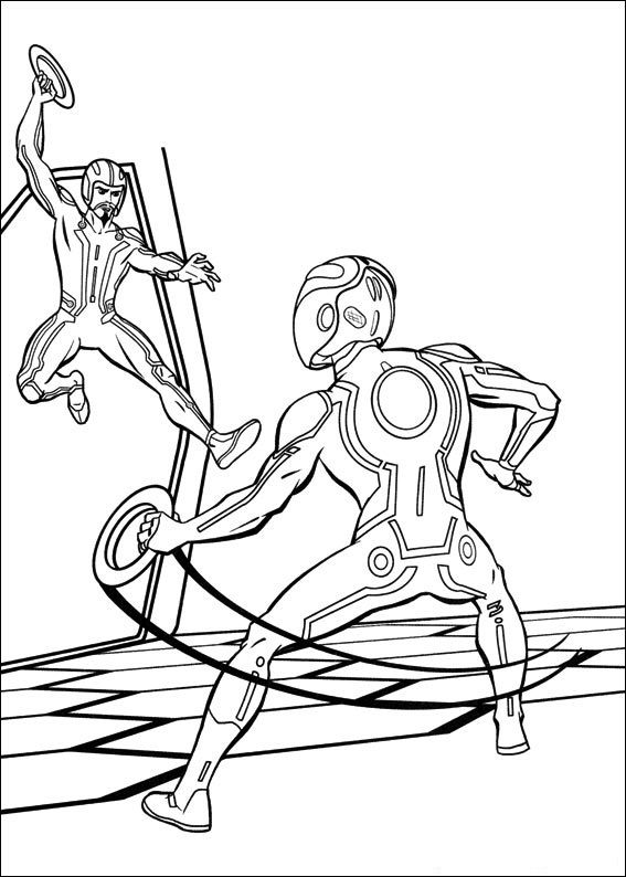 Free Printable Tron Coloring Pages For