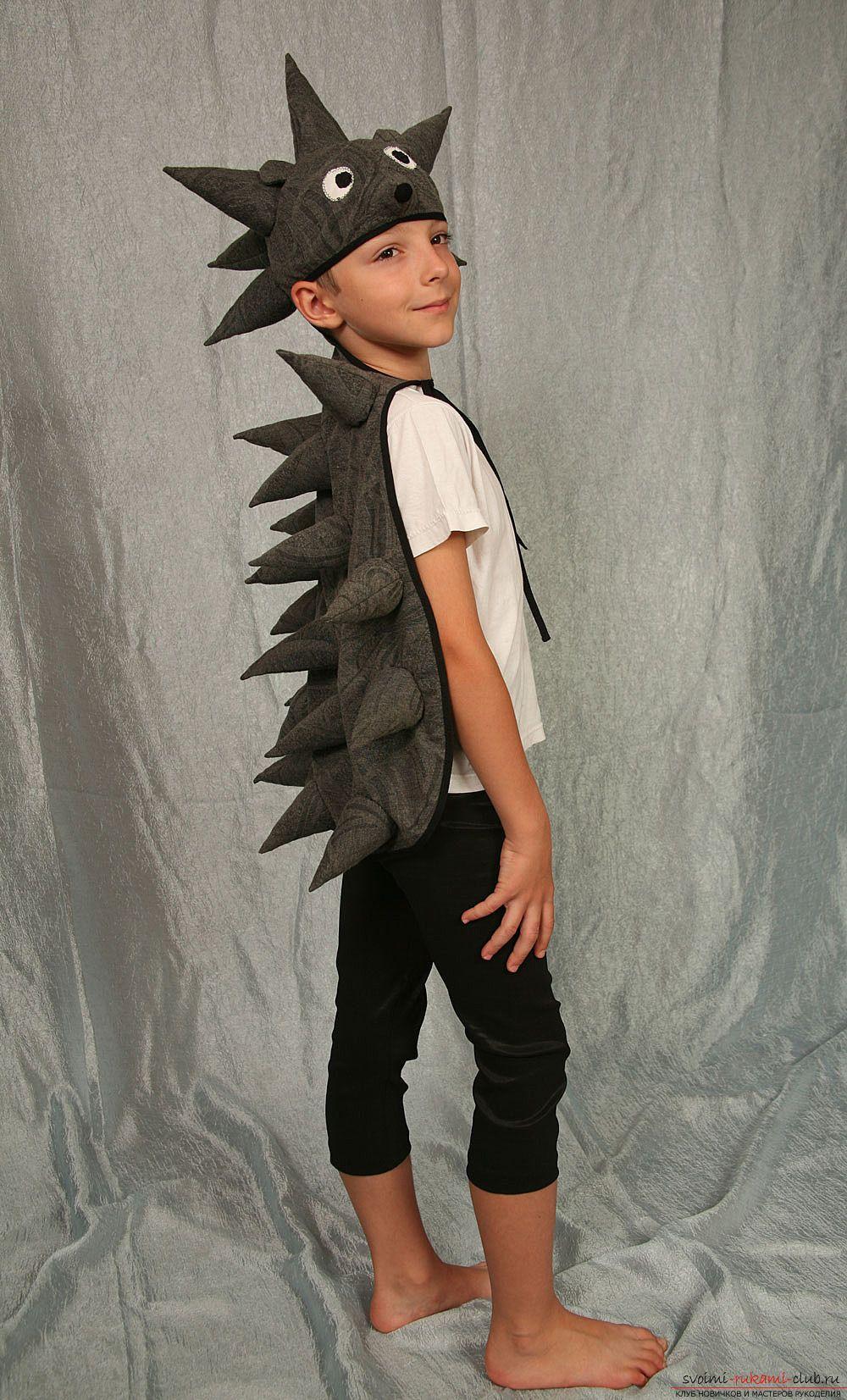 Новогодний костюм ежика для мальчика своими руками фото 66