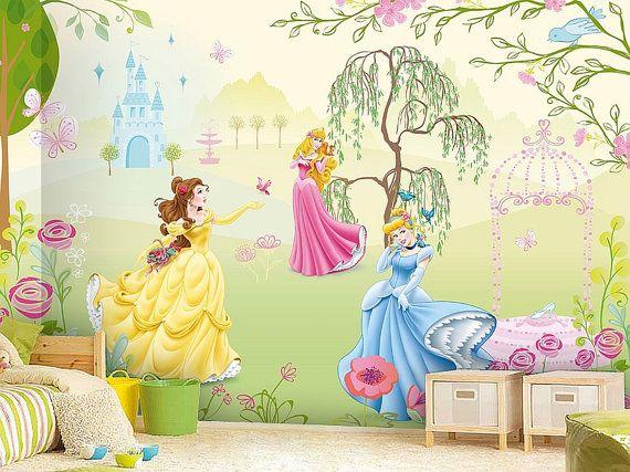 10 % off Princess Wall mural Wallpaper Wall décor Wall by KIINOO ...