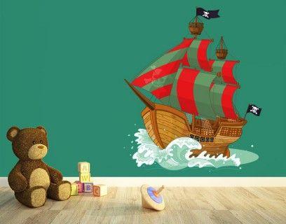 Nice Wandsticker Piratenschiff PiratenschiffEinrichten Und WohnenJungs