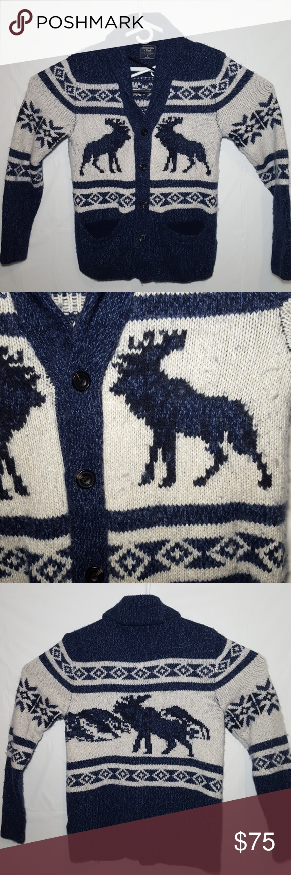 Abercrombie Fitch Christmas Cardigan Sweater VTG | Sweater