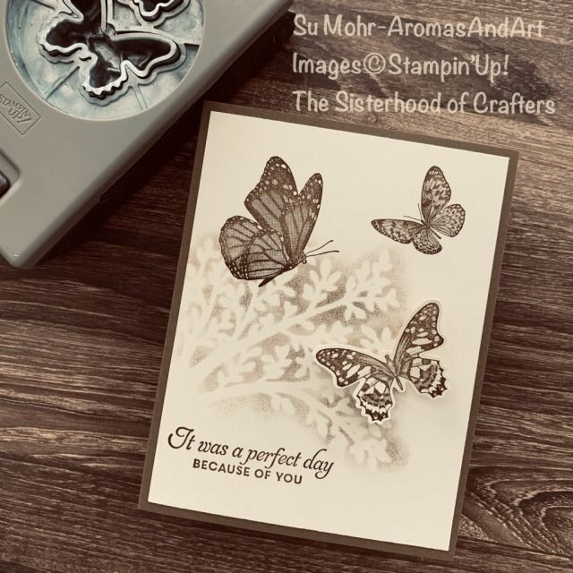 Butterfly Wishes In Sepia - Aromas and Art