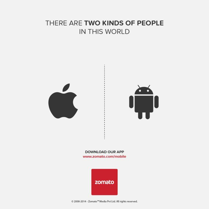 Pin for Later: There Are Two Kinds of People in the World: Which One Are You?  Source: Facebook user Zomato