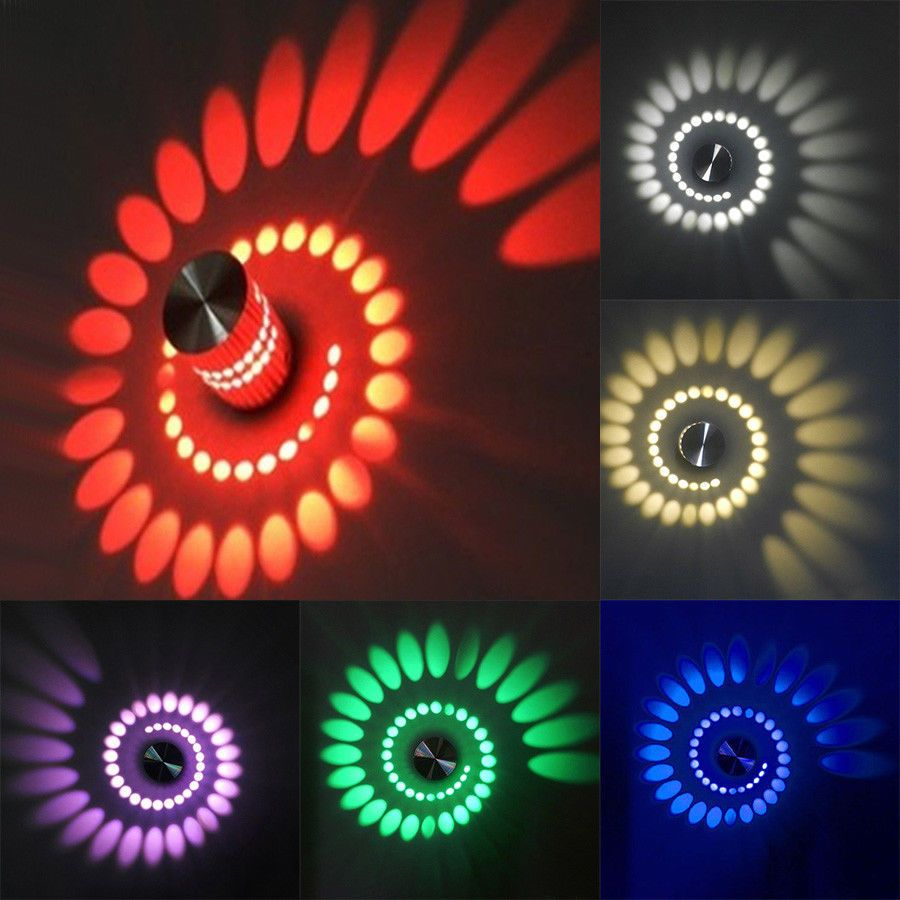 Dimmable N 3w Led Wall Sconces Ceiling Light Spiral Lamp Disco Aisle Living Room Led Wall Lights Bedroom Ceiling Light Lamp Decor