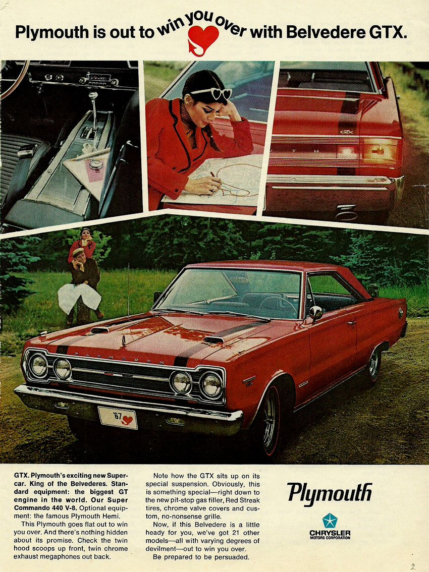 1967 Gtx Ad Vintage Car Ads Pinterest Plymouth Plymouth