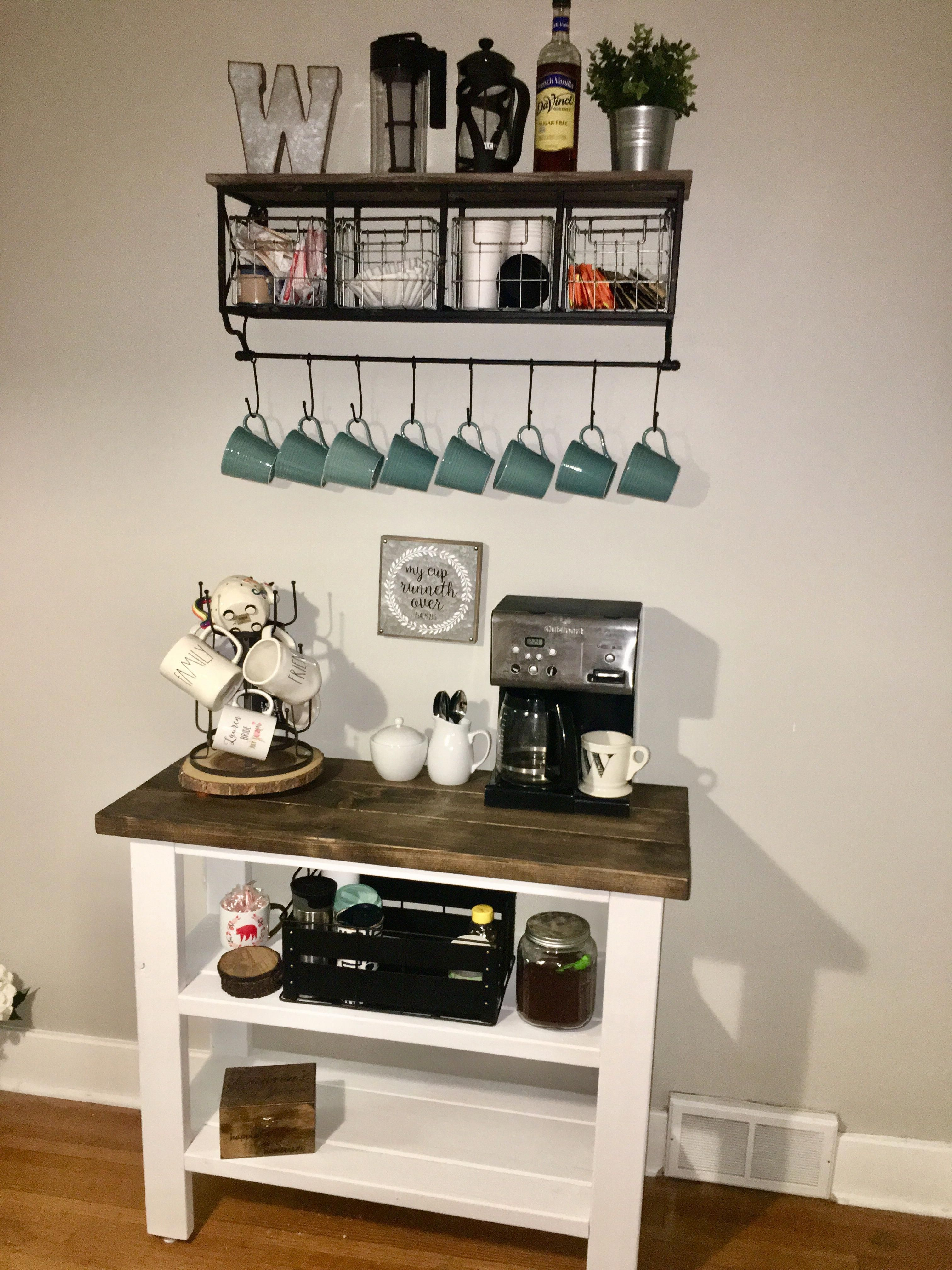 If You Really Want To Have A Coffee Shop With This Great Coffee Maker In The Kitchen Or Inside Your House Coffee Bar Home Coffe Bar Decor Home Coffee Stations