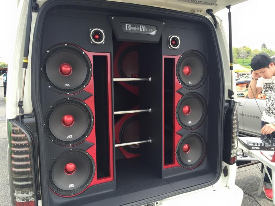 RoadThunder Extreme and Thunder8000 series subwoofers in a custom, slot ported install. #mtxaudio