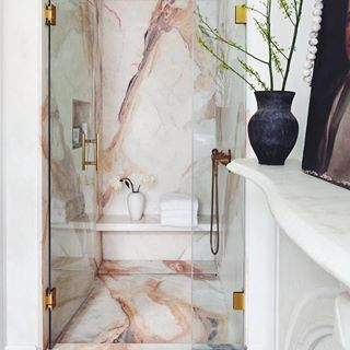 Two of my favorite things, pink and marble, together ...