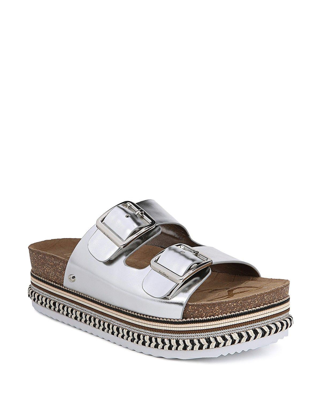 9733ffc40fe6 Sam Edelman Women s Oakley Leather Platform Slide Sandals ...