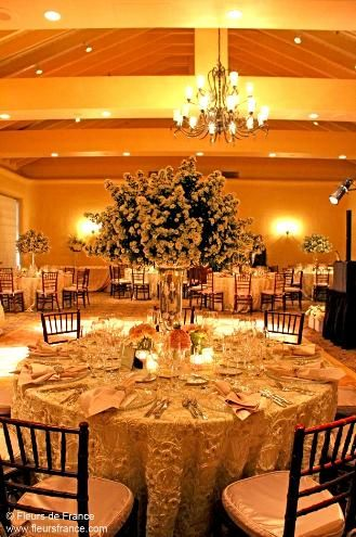 Stunning centrepieces at The Fairmont Sonoma Mission Inn & Spa