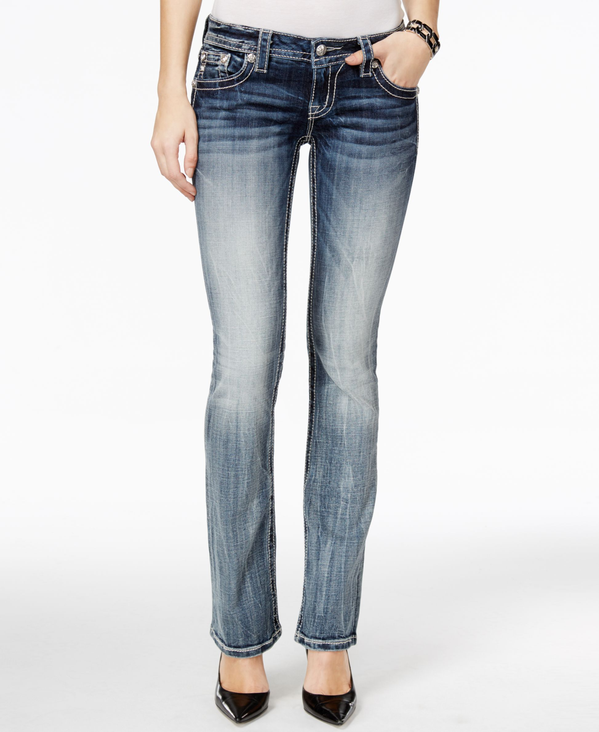 6a51bcb0b59 Miss Me Embellished Bootcut Medium Blue Wash Jeans | Products ...