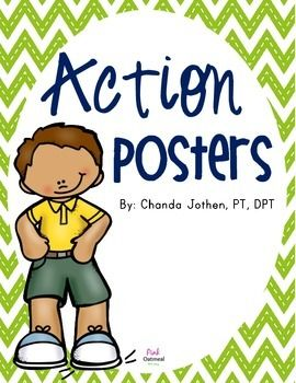 Children who are given the opportunity to move tend to have better academic achievement, better school attendance and fewer disciplinary problems.  Description 14 Action Posters  How to Use Print and use on a bulletin board.  Keep online and use on the smartboard for a quick and easy way to pull up brain breaks!