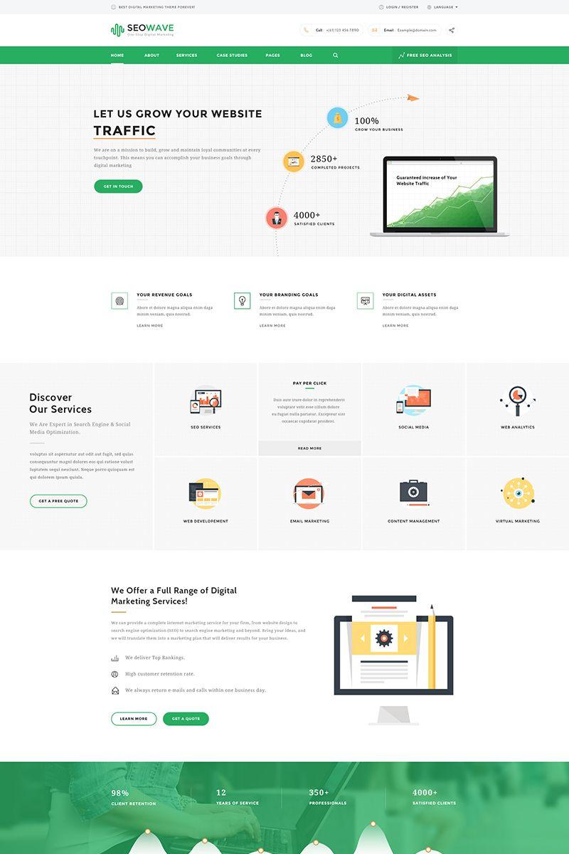 Seo wave - Seo & Marketing WordPress Theme Big Screenshot ...