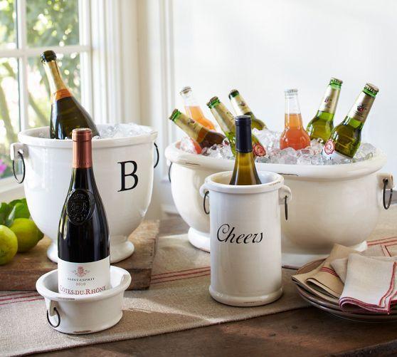 Rhodes Party Bucket Wine Cooler Bucket Pottery Barn Best Housewarming Gifts