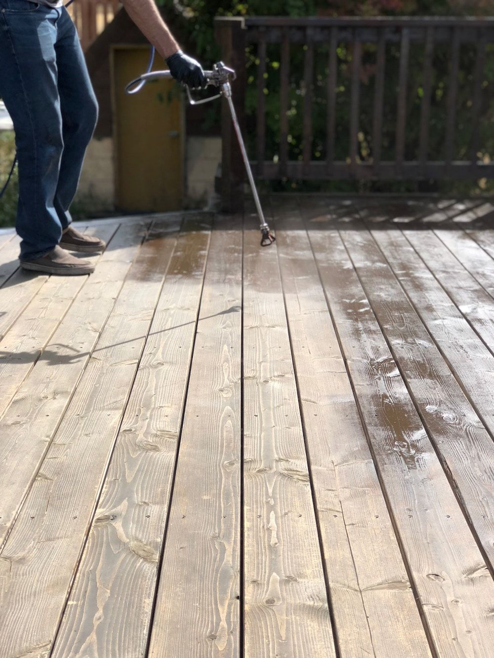 How To Repair Prep And Restain A Wood Deck Wood Deck Deck Makeover Deck Paint