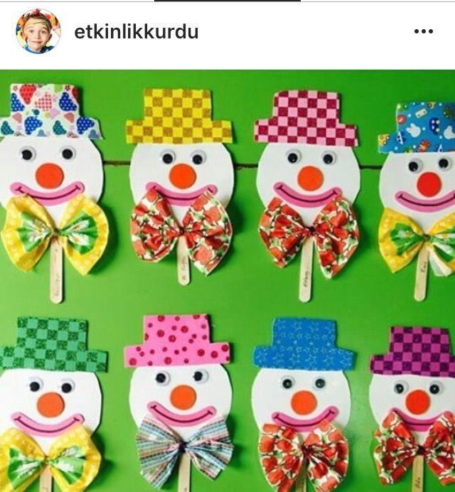 Ana Okulu Dunyam in 2020   Clown crafts, Circus crafts