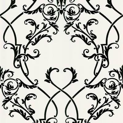 Black And White Damask Wallpaper Embossed Wallpaper Trellis