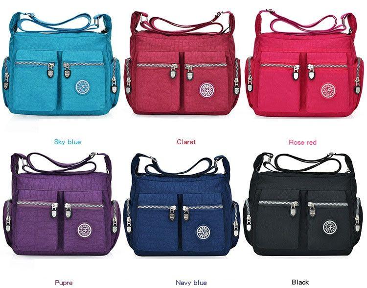 40c3580b8af Best Waterproof Nylon Women Messenger Bags Casual Clutch Carteira Vintage  Hobos Ladies Handbag Female Crossbody Bags Shoulder Bags