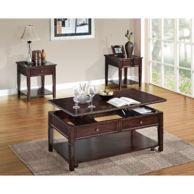 A J Homes Studio Malachi 3 Piece Coffee Table Set Coffee Table With Storage Coffee Table With Stools 3 Piece Coffee Table Set