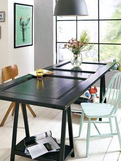 Ayer puerta y hoy, mesa | MESAS DE PUERTAS ANTIGUAS | Mesas de ...