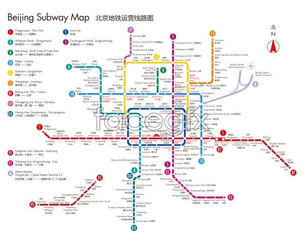 Beijing Subway Map.Beijing Subway Map Vector Free Vectors Beijing Subway Map